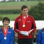 Der neue Schweizermeister Philipp Widmer bei der Siegereh-rung