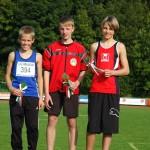 Marc bei der Siegerehrung (rechts)